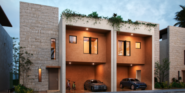 9.-Fachada de Casas Sunset